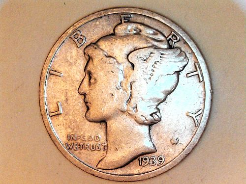 1939 S Mercury Dime--Fine Details