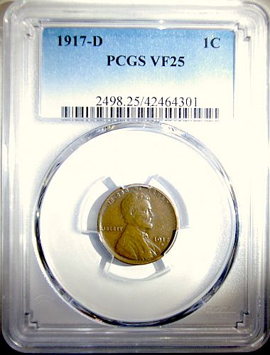 1917 D Lincoln Wheat Penny