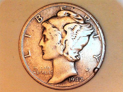 1942 S Mercury Dime--VF