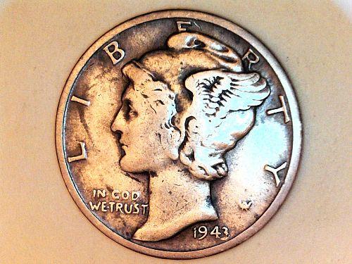 1943 S Mercury Dime--Very Fine