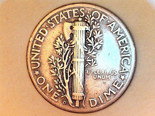 1944 D Mercury Dime--Extra Fine