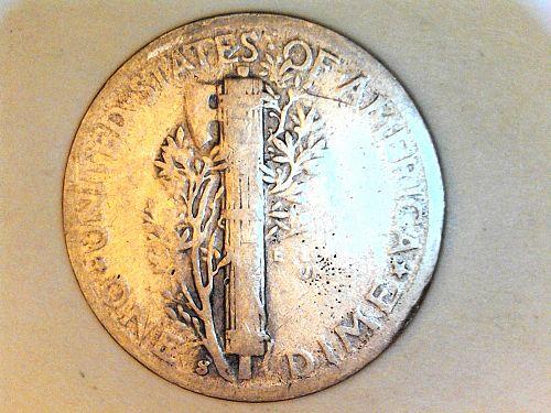 1944 S Mercury Dime--Good
