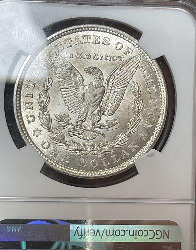 1921-P Choice BU/MS64 (Near GEM) NGC Graded Morgan US Silver Dollar