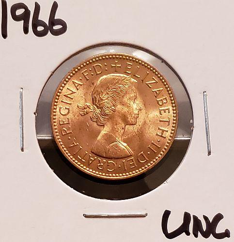 1966 Great Britain Half Penny
