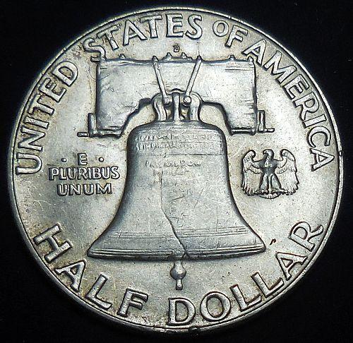 1963-D Franklin Half Dollar Full Bell Lines