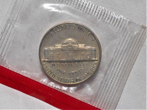 1969 D Jefferson nickel in orig US Mint cello