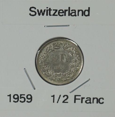 1959 Switzerland 1/2 Franc