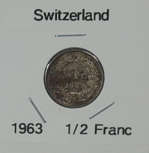 1963 Switzerland 1/2 Franc