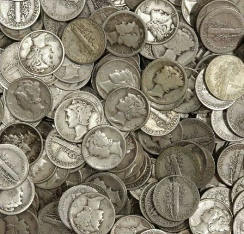 One (1) 1916-1945 Mercury Silver Dime 90% Silver Seller's Choice