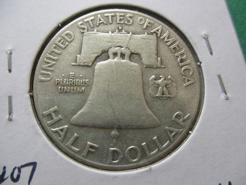 1949-D  VG10 Franklin Half Dollar.  Item: 50 F49D-04.