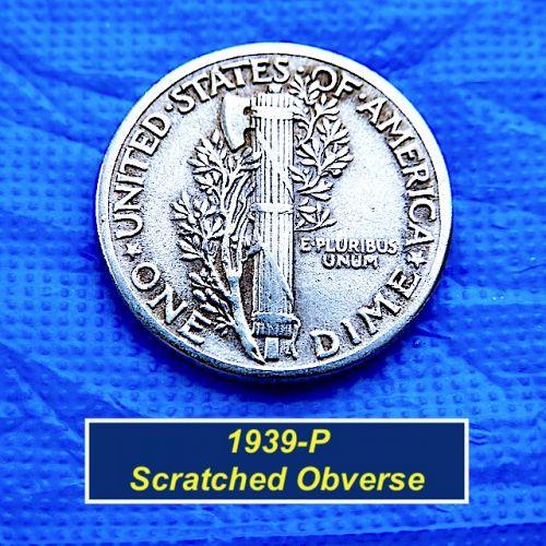 "1939-P  Mercury Dime ⭐️ Circulated ⭐️ ""VF Condition ⭐️(3996)"