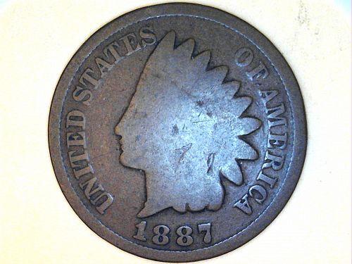 1887 Indian Head Cent---Good