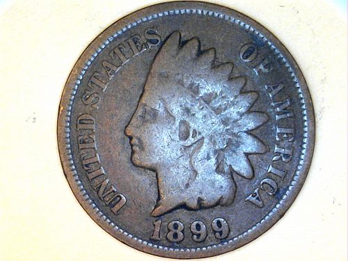 1899 Indian Head Cent--Very Good