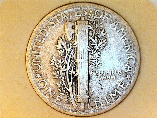 1944 P Mercury Dime--Fine