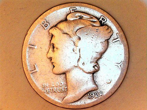 1928 P Mercury Dime--Good