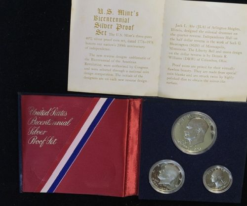 1976-S  3 coin proof set 40% silver  in display folder
