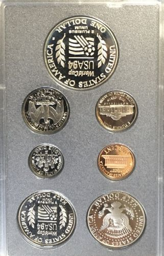 1994 proof set with world cup half and dollar