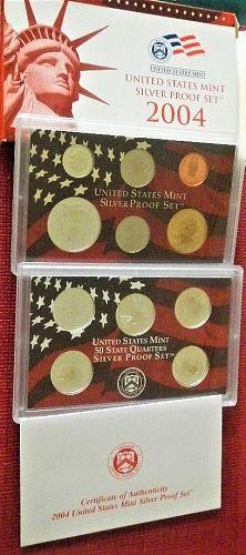 2004-S  US Mint Proof Silver Set. OGP