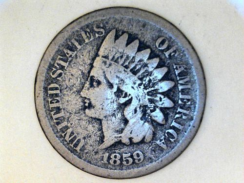 1859 Indian Head Cent---Good