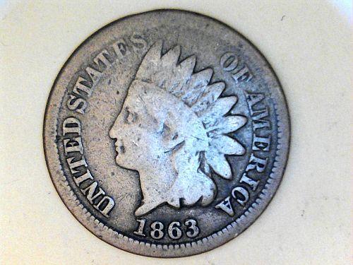1863 Indian Head Cent---G-VG