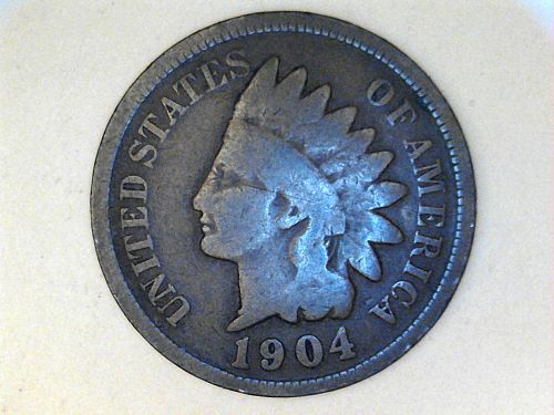 1904 Indian Head Cent--Good-VG