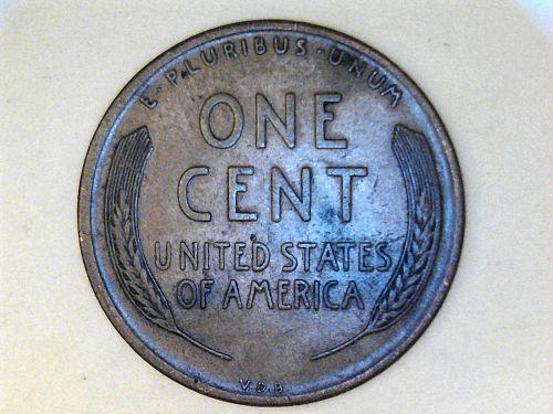 1909 P VDB Lincoln Cent--XF-AU Details, slight rim damage