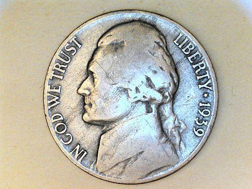 1939 S Jefferson Nickel---Fine (semi-key date)