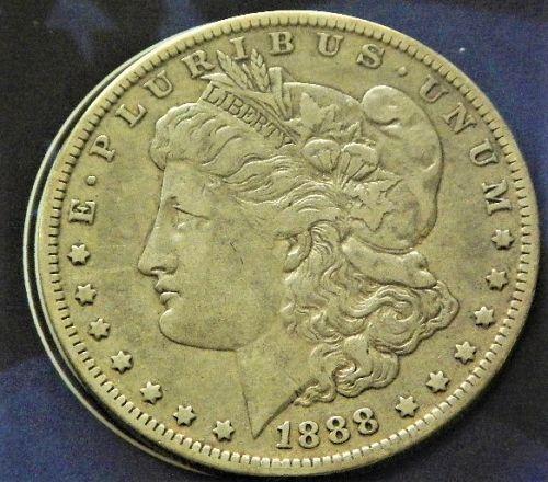 1888-O  MORGAN  $1 BETTER DATE XF