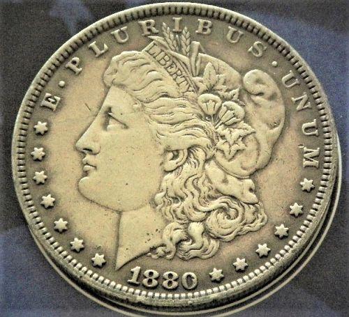 1880-P  MORGAN  $1 CH-AU