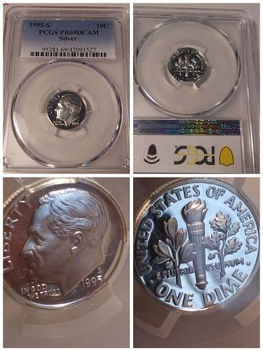 2 PCGS Buffalo 5c., PCGS Proof 69 DCAM Silver 10c., 2 Cent piece, 1893 Love Toke