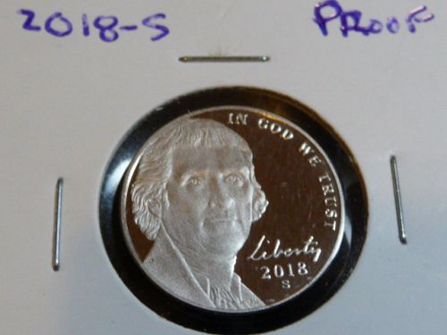 2018-S JEFFERSON CAMEO NICKEL FROM PROOF SET  G-30-21