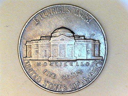 1940 P Jefferson Nickel---AU