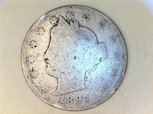 1897 Liberty Nickel---AG