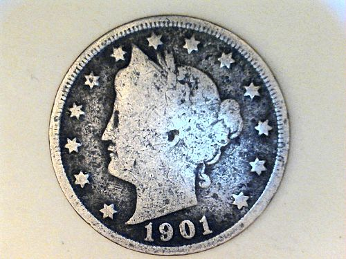 1901 Liberty Nickel---VG Details, corrosion