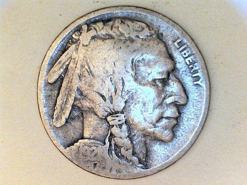 1921 P Buffalo Nickel---VG
