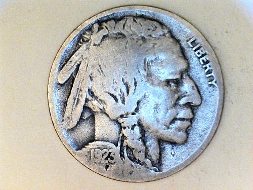 1923 S Buffalo Nickel---AG