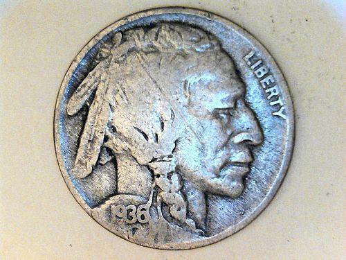 1936 P Buffalo Nickel---Fine Details
