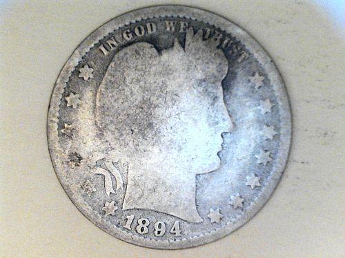 1894 P Barber Quarter--AG