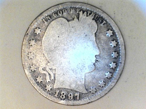1897 P Barber Quarter--Good