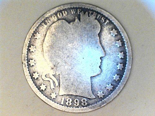 1898 P Barber Quarter--AG-Good