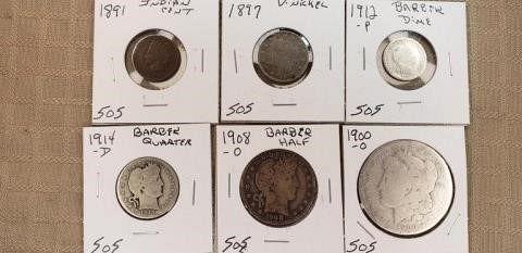 TYPE SET CENT TO DOLLAR 1891 1897 1912 1914D 1908O 1900O