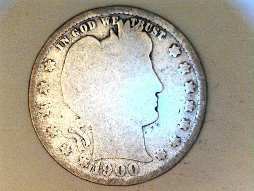 1900 P Barber Quarter--Good