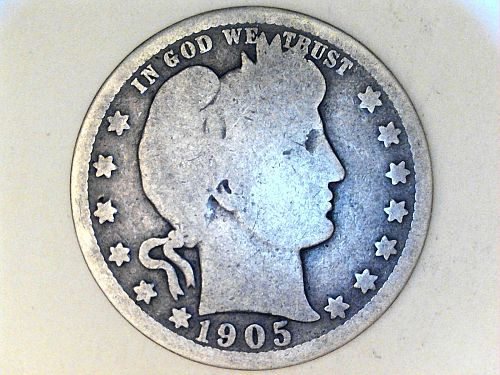 1905 P Barber Quarter--Good