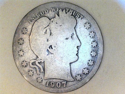 1907 P Barber Quarter--Good