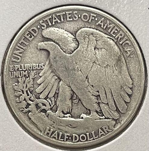 1941-P Circulated Fine Walking Liberty US Silver Half Dollar