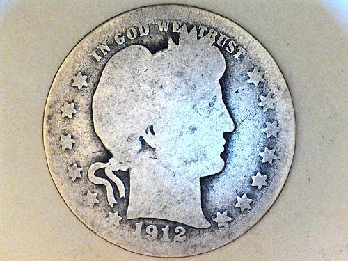 1912 P Barber Quarter---AG