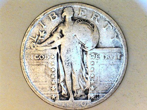 1920 P Standing Liberty Quarter---G-VG