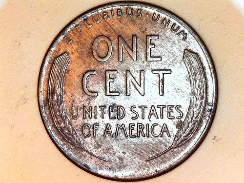 1943 P Steel Lincoln Wheat Cent---AU-UNC