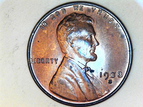 1938 S Lincoln Cent--Uncirculated