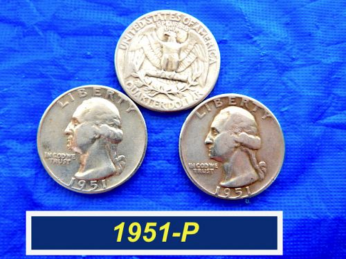 1951-P  SILVER Quarter  ⭐️  Average Circulated  ⭐️  (2801)